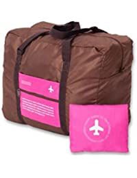 PETRICE Unique Foldable BAG,Polyester Material, Large Capacity Waterproof Foldable Lightweight Luggage Bag (PINK...