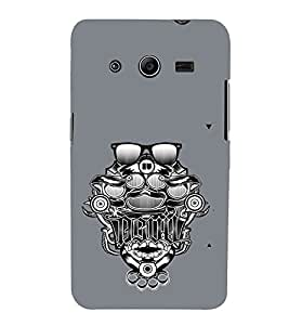 Ebby Premium 3d Desinger Printed Back Case Cover For Samsung Core 2 (Premium Desinger Case)