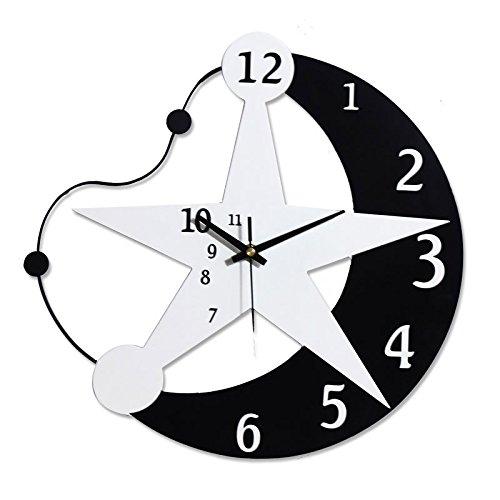 ASL Personalisierte Uhren Wanduhr Quarz Uhr Wand Diagramme Kreatives Wohnzimmer Schlafzimmer Mode Einfache Moderne Mute Design 33x33cm / 40x40cm Neu ( größe : 40 cm ) (Asl-diagramm)