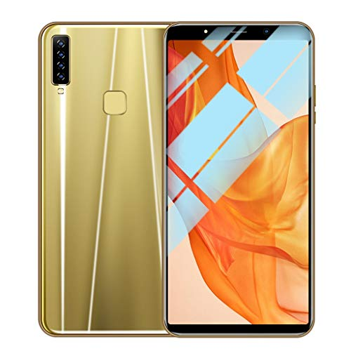 SO-buts A9 Android Smartphone, 6.1 Zoll Achtkern Handy mit Vier Kameras, Dual-Karte Dual-Standby-Handy, maximale Speicher 64G, Dual HDCamera WiFi Bluetooth, (Gold)
