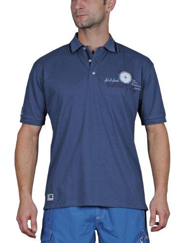 iQ-Company Herren Polo Hemd Dive Club 94, 2477_ocean, L, 230294_2477_L