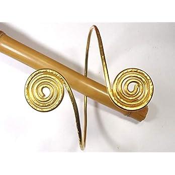 Oberarmreif Spirale Oberarm aus Messing Massiv, Körperschmuck, Oberarmband Manschette