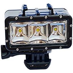 SupTig 30M de alta potencia impermeable regulable LED luz de vídeo Fill buceo bajo el agua Luz Luz de noche para GoPro Hero5/5S/4/4S/3+/3/2SJCAM SJ4000/SJ5000/sj6000/SJ7000Xiaoyi