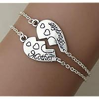 Un accoppiamento/impostazioni madre e figlia di braccialetti, madre e figlia, gioielli, il braccialetto, la festa della mamma, regali per la mamma, bff.