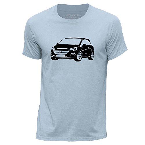 STUFF4 Uomo Girocollo T-Shirt/Plantilla Coche Arte / Corsa OPC E Cielo Blu
