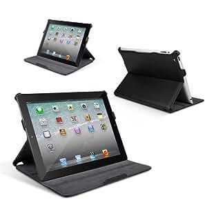 Anker® Ultra Slim iPad 3 / 4 Case Hülle Tasche Etui Schutzhülle für Apple the New iPad 3 / iPad 4 aus PU Leder - Einteiliges Wide-View - Multi Ständer - Auto Wake-up / Sleep Cover - Schwarz