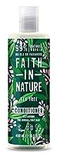Faith in Nature Après-Shampoing Naturel Arbre à Thé, Nettoyant, Végan et Respectueux des Animaux, Sans Parabènes et Sans SLS, Cheveux Normaux à Gras, 400ml