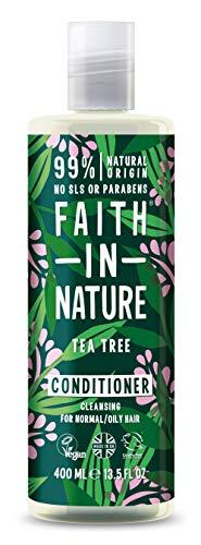 Faith in Nature - 100% natürlicher Haarspülung mit Tea Tree für alle Haartypen - für häufiges Waschen - freie Sulfate - freies Paraben - Vegan