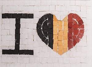 Trois petits points Juego de 3 pequeños Puntos de Mosaico Completo M Love Belgium-Maxi, 6192459601007, Universal