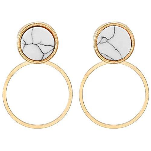 e Ohrstecker Einfache Geometrische Ohrringe Marmor Türkis Ohrringe Kiefer Stein Ohrstecker Mode Elegant Charming Schöne ()