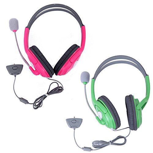 hde-xbox-360-headset-game-chat-xbox-live-headphone-with-microphone-2-pack-pink-green
