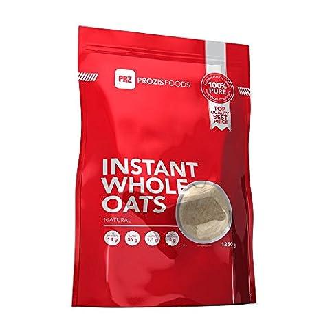 Prozis 100% Naturel Flocons en Poudre 1250g - Céréales Enrichies de Protéines et de Glucides de Haute Qualité - Goût Fraise-Crème - Convient pour les Végétarians et Végans - 41 Portions