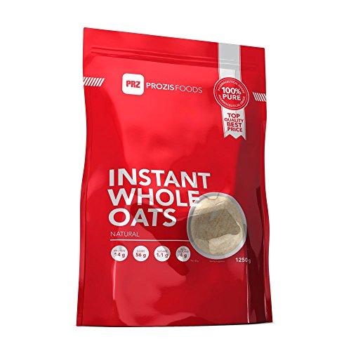 Prozis 100% Natural Oats Powder 1250g - Cereales Repletos de Proteínas, Hidratos de Carbono de Primera Calidad y Fibra Saciante - Sabor Fresa con Nata - Apto para Vegetarianos y Veganos - 41 Dosis