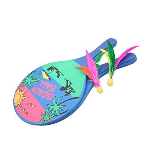 e Ball Spiel Badmintonschläger Set für Kinder Erwachsene (Paddle Ball-paddel)