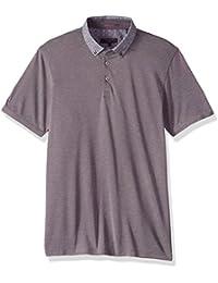 Ted Baker Men's Osborn Modern Slim Fit Ss Woven Collar Polo