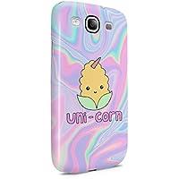 Cute Corn Unicorn Soap Tye Dye Holographic Print Snap On Back Plastic Phone Cover Shell For Samsung Galaxy S3 Custodia