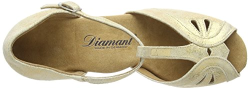 Diamant 019-011-311 Damen Tanzschuhe - Standard & Latein Gold (Gold Magic)