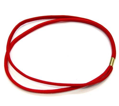 rougecaramel elastisch Haarband doppelte Reihen–Rot