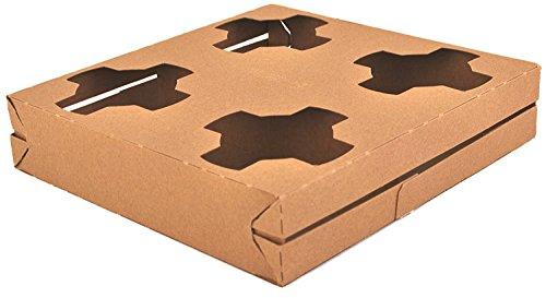 4-Cup Kraft Getränk Carrier für 6-32Oz Tassen von MT Produkte-(15Stück) 4-cup Carrier