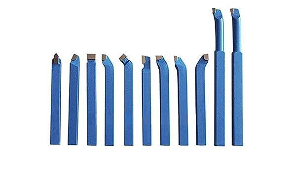 WiMas 11Pcs Punta con Punta in Carburo Strumento di Saldatura Tornio Bit Tornitura di Fresatura per Metallo Tornio Strumenti