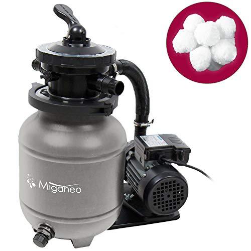 Miganeo® Sandfilteranlage Speedclean 7000 grau inkl. Filterballs 403952