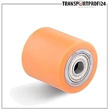 Carretilla elevadora rollo de poliuretano de diámetro 85 mm de ancho y 70 mm agujero del eje - diámetro de 20 mm