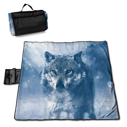 Socksforu Wolf Winter Extra Large Picnic Blanket 57