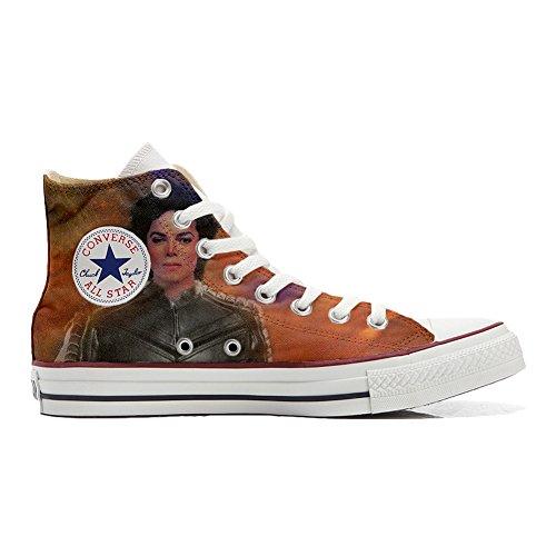 CONVERSE Personalizzate All Star Sneaker unisex (Scarpa artigianale) The king of Rock - TG33
