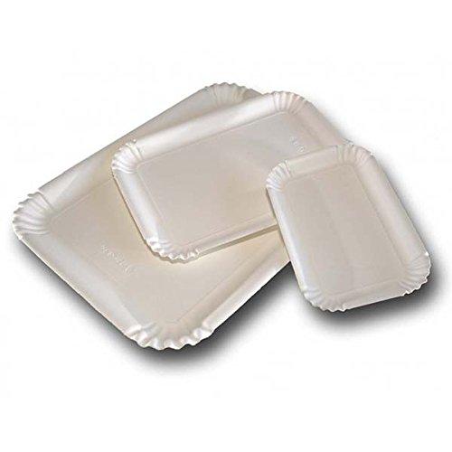 Effe2cart Vassoio in Cartone Bianco per Pasta e Dolci 30X40 cm - Conf. 50 pz