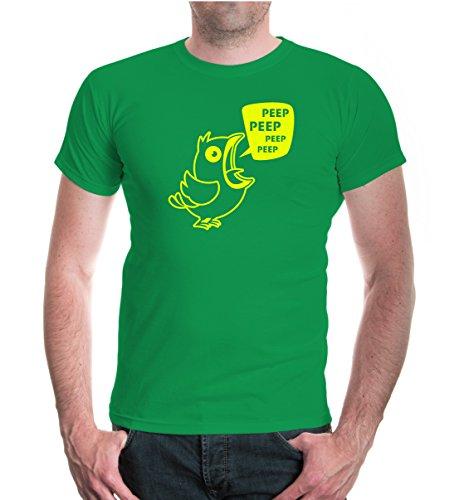 buXsbaum® T-Shirt Peep Bird Kellygreen-Neonyellow