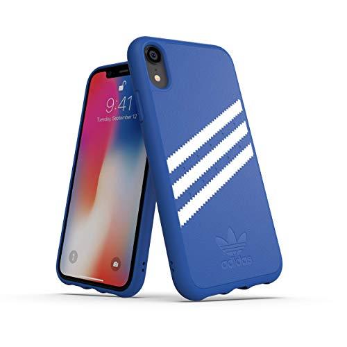 adidas Moulded Suede Schutzhülle für Apple iPhone XR, Blau/Weiß