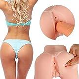 Pussy Masturbator mit 2 Löcher, 3D Silikon Vagina Taschenmuschi Sexspielzeug Realistische Pussy Ass...