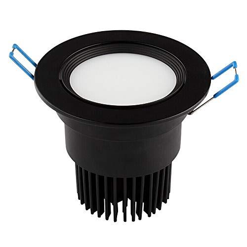 Wlnnes Lámpara empotrada de luz de panel negra Empotrable 5W, 7W, 10W,...