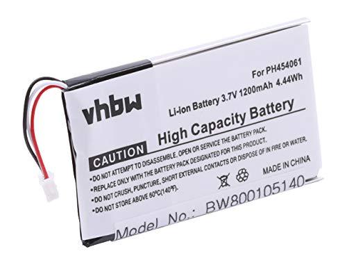 vhbw Akku 1200mAh (3.7V) für Festnetz, schnurlos Telefon Philips S10A, S10A/38, S10H wie PH454061.