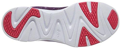 Asics Ladies Gel-fit Tempo 3 Scarpe Da Interno Multicolore (prugna / Argento / Rosso Rouge)