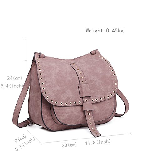 Miss Lulu, Borsa a mano donna 1727 Brown