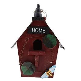 FLAMEER Nido Uccello Birdhouse Nidificazione Sospeso Giardino Pensile