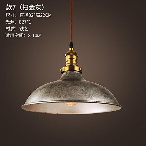 Luckyfree Kreative Moderne Mode Anhänger Leuchten Deckenleuchte Kronleuchter Schlafzimmer Wohnzimmer Küche, 7 Grau 32Cm Durchmesser