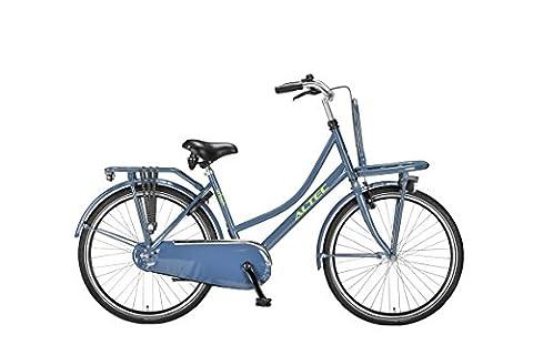 Vélo Enfant Fille Altec 26 Pouces Frein V-Brake et Rétropédala/ge 85% Assemblé Gris Ardoise