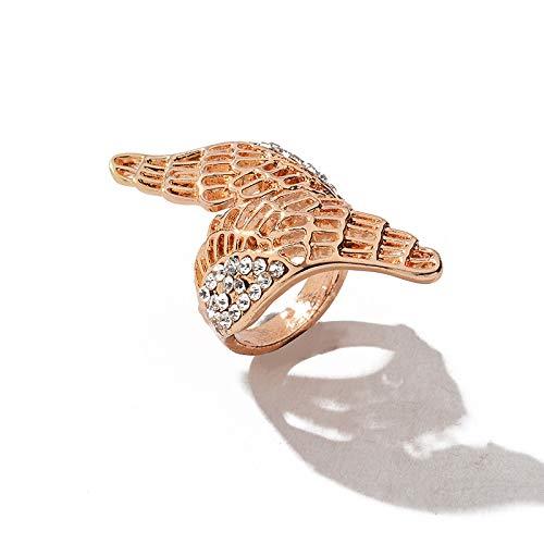 l Flügel Ring Kreuz Ringe Für Frauen Gold ()