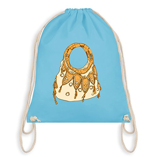 Typisch Frauen - Handtasche - Turnbeutel I Gym Bag Hellblau