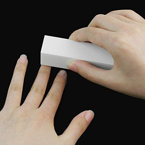 3 x Demarkt bloque pulido limas de uñas de búfer bloque de pulido de 9 cm * 2.5cm * 2.5cm Blanco
