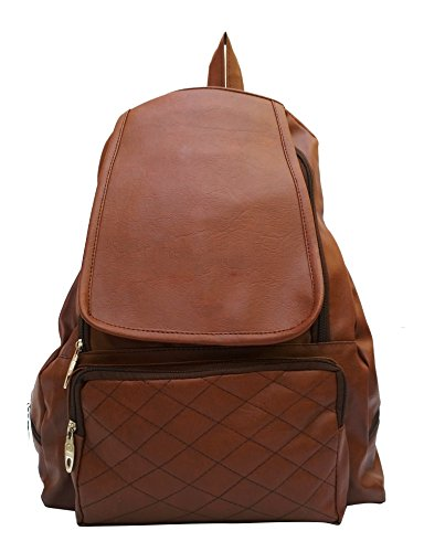 Vintage Women\'s/Girl\'s Backpack Handbag (Chocolate Brown,bag 144)