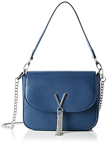 Valentino by Mario Valentino Damen Divina Schultertasche, Blau (Blu), 8.0 x 17.0 x 23.0 cm