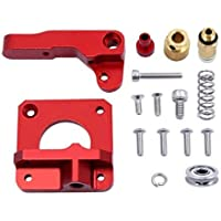 Tesseract Aluminum Frame Block MK8 Extruder (Left Arm) Upgraded for 1.75mm Extrusion, Drive Feed 3D Printer Extruders…
