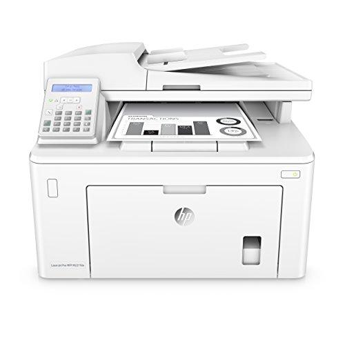 HP LaserJet Pro M227fdn Laserdrucker Multifunktionsgerät (Schwarzweiß Drucker, Scanner, Kopierer, Fax, LAN, Airprint) weiß