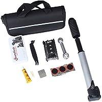 Borsa attrezzi riparazione bicicletta kit strumento Mini Pompa di pneumatici