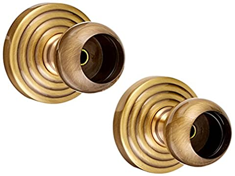 Allied Brass WP-99-ABR Shower Curtain Escutcheon, Antique Brass