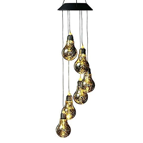 Ampoule LED à énergie éolienne Moblie, anzome Spiral Spinner Guimbarde d'intérieur et extérieur pour chambre à coucher, salon, Patio, Terrasse, cour, jardin, maison, Allée