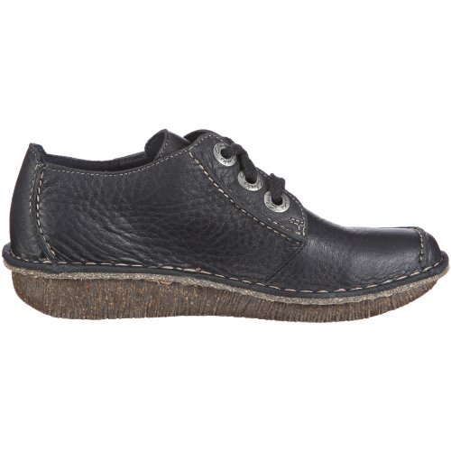 Clarks Funny Dream, Derby Femme, Bleu, Taille Unique Bleu (Navy Leather)